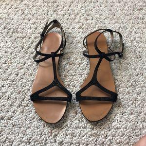 Zara t strap sandals